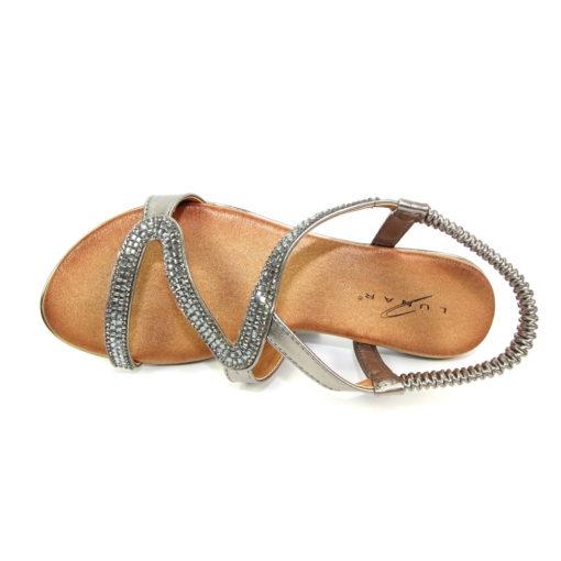 Lunar Emilia Pewter Sandal