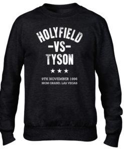 Holyfield V Tyson Boxing Fight Vegas Black Men's Premium Crew Sweater