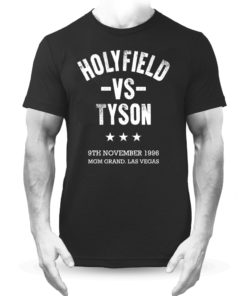 Holyfield V Tyson Boxing Vegas Fight Black Premium Men's T-Shirt