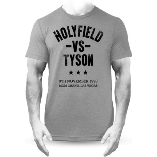 Holyfield V Tyson Boxing Vegas Fight Grey Premium Men's T-Shirt