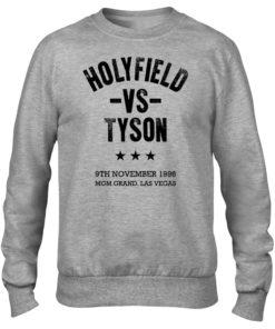 Holyfield V Tyson Boxing Fight Vegas Grey Men's Premium Crew Sweater