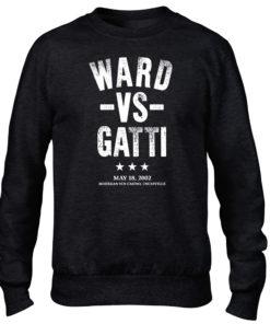 Ward V Gatti Boxing Fight Black Men's Premium Crew Sweater