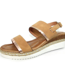 Lunar Cashew Wedge Tan Sandal