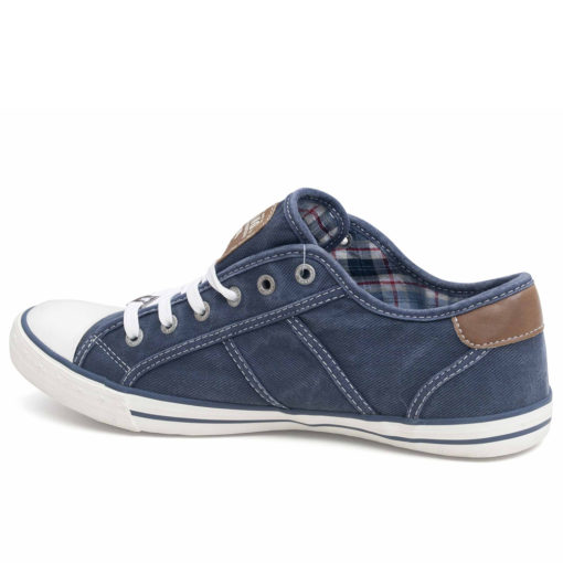 Mustang Navy Canvas Ladies Trainers Pumps