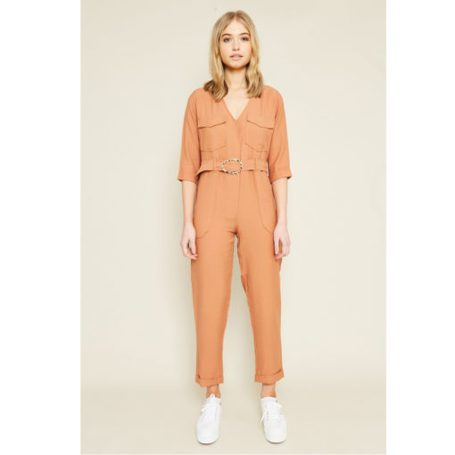 Native Youth Phelps Caramel Jumpsuit