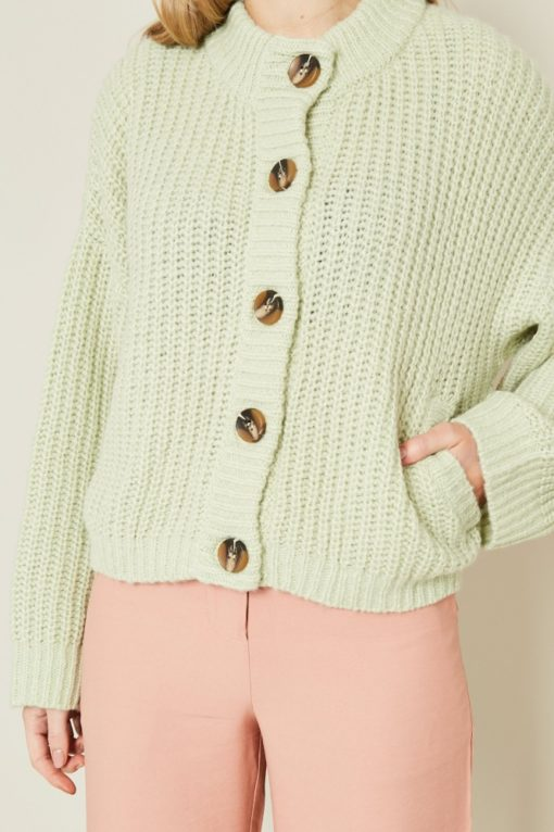 Native Youth Rae Mint Chunky Cardigan