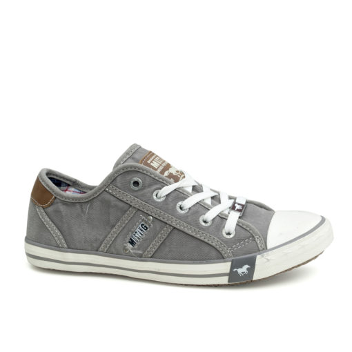 Mustang Grey Canvas Ladies Trainers Pumps