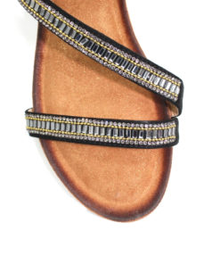 Lunar Sofia Black Wedge Sandal