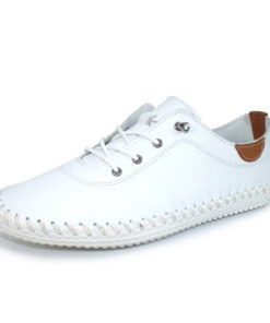 Lunar St Ives White Leather Pump