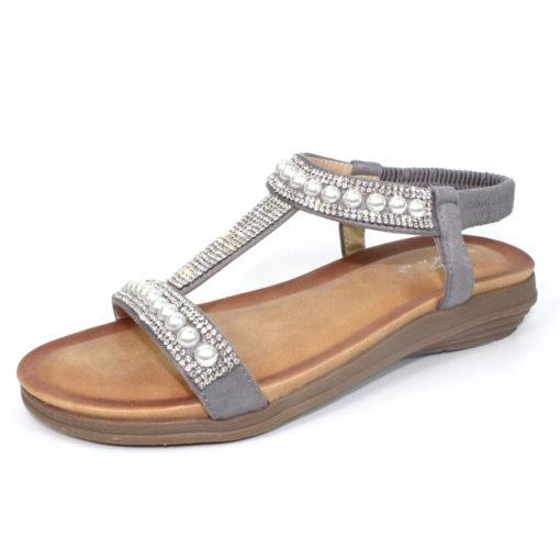 Lunar Tancy Pearl Sandal Grey