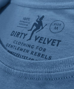 Dirty Velvet Armed Police Graphic Tee - Noble Blue