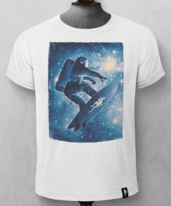Dirty Velvet Star Surfer Graphic Tee - Vintage White