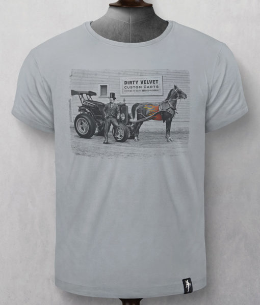 Dirty Velvet Custom Carts Graphic Tee - Highrise Grey