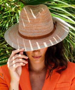 Powder Natalie Tangerine Fedora Summer Beach Ladies Hat