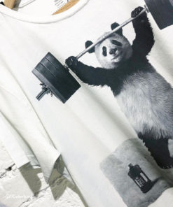 Dirty Velvet Panda Power Graphic Tee - Vintage White