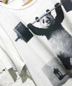 Dirty Velvet Panda Power Graphic Tee - Vintage White