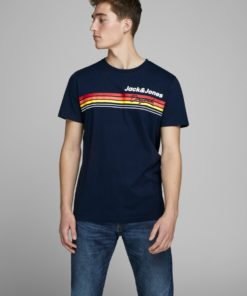 Jack & Jones Venture Chest Print Tee - Navy