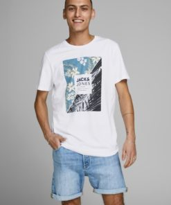 Jack & Jones Tropic Print Tee - White