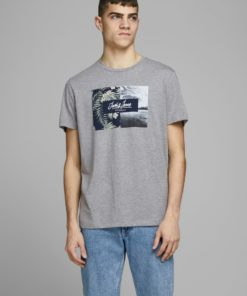 Jack & Jones Tropic Print Tee - Grey