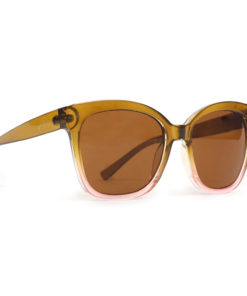 Powder Marcia Olive and Pink Frame Retro Ladies Sunglasses