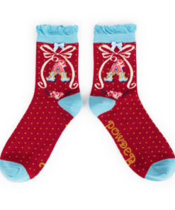 Powder Alphabet Monogram Bamboo Ladies Socks 'A'
