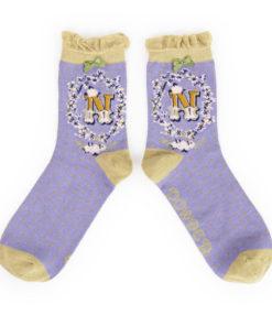 Powder Alphabet Monogram Bamboo Ladies Socks 'N'