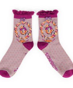 Powder Alphabet Monogram Bamboo Ladies Socks 'Q'