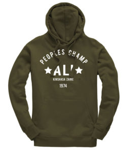 Muhammad Ali Rumble In The Jungle Olive Hoodie