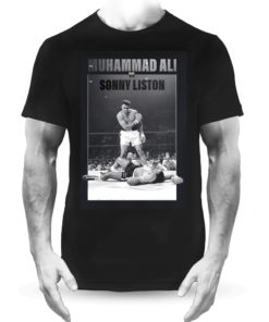 Muhammad Ali V Sonny Liston Boxing Fight Black Tee