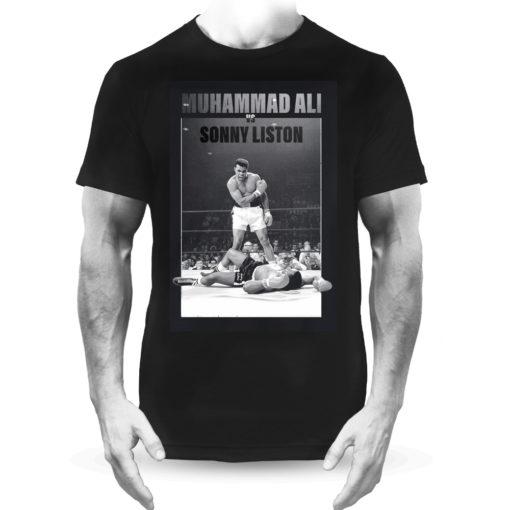 Muhammad Ali V Sonny Liston Boxing Fight Black Tee