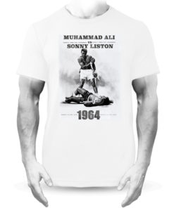 Muhammad Ali V Sonny Liston Boxing Fight White Tee