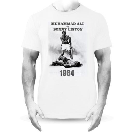 Muhammad Ali V Sonny Liston Boxing Fight White Tee