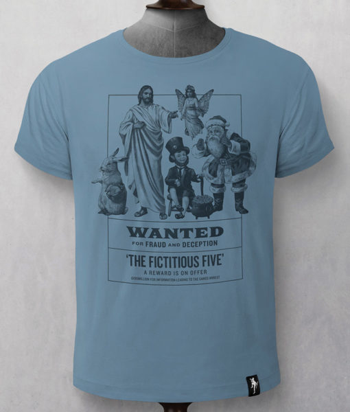 Dirty Velvet Fictitious Five Graphic Tee - Noble Blue