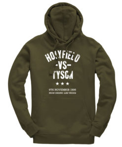 Holyfield V Tyson Boxing Fight Vegas Olive Men's Premium Hoodie