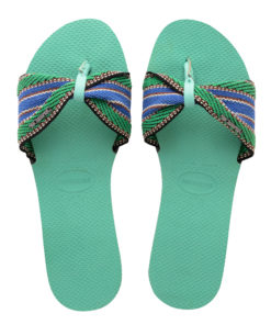 Havaianas Womens St Tropez Fita Green Dew Flip Flops Sandals