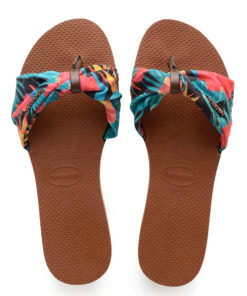 Havaianas Womens St Tropez Rust Flip Flops Sandals