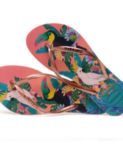 Havaianas Womens Slim Tropical Rose Flip Flops