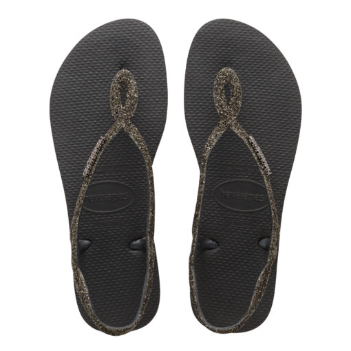 Havaianas Womens Luna Premium Black Flip Flops
