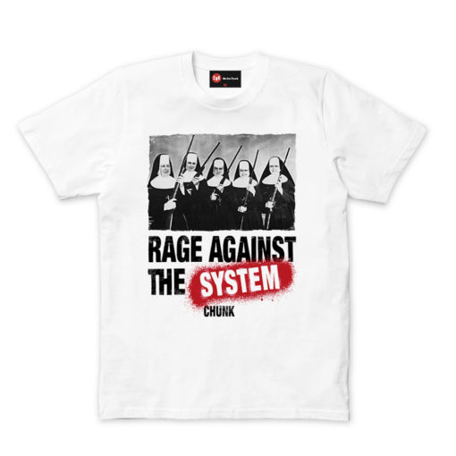 Chunk Rage Against White T-Shirt