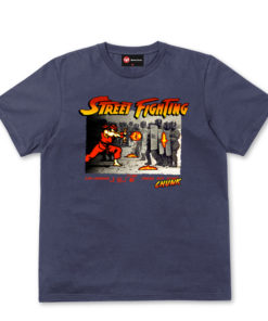 Chunk Street Fighting Navy T-Shirt