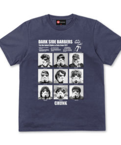 Chunk Dark Side Barbers Light Navy T