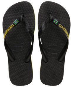 Havaianas Mens Brasil Layers Black Flip Flops
