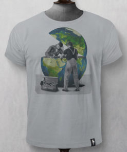 Dirty Velvet Global Breakdown Graphic Tee - Highrise Grey