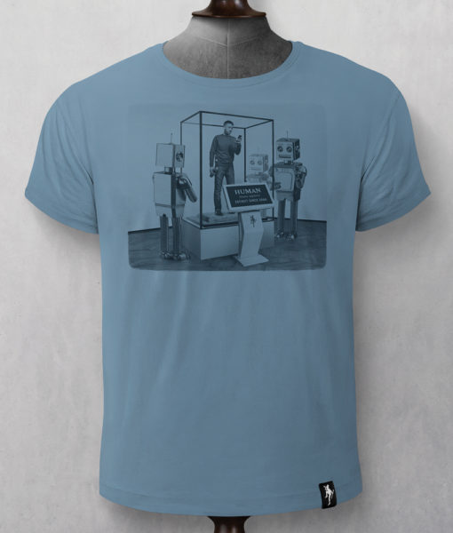 Dirty Velvet Museum Of Life Graphic Tee - Noble Blue