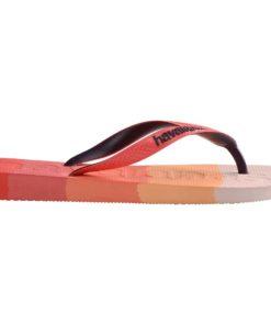 Havaianas Womens Logomania Multicolour Gradient Red Crush Flip Flops