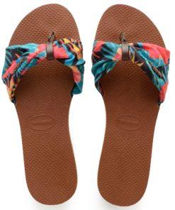 Havaianas Womens You Saint Tropez Rust Flip Flops