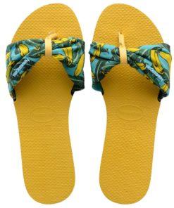 Havaianas Womens You Saint Tropez Gold Yellow Flip Flops