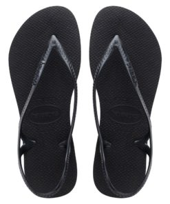 Havaianas Womens Sunny II Black New Flip Flops