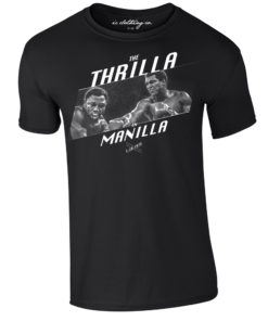 Ali v Frazier Thrilla in Manilla 1975 Premium Boxing T-Shirt Black