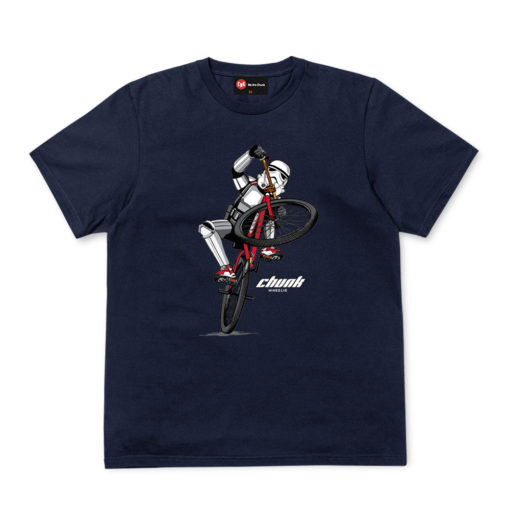 Chunk Wheelie Navy T-Shirt